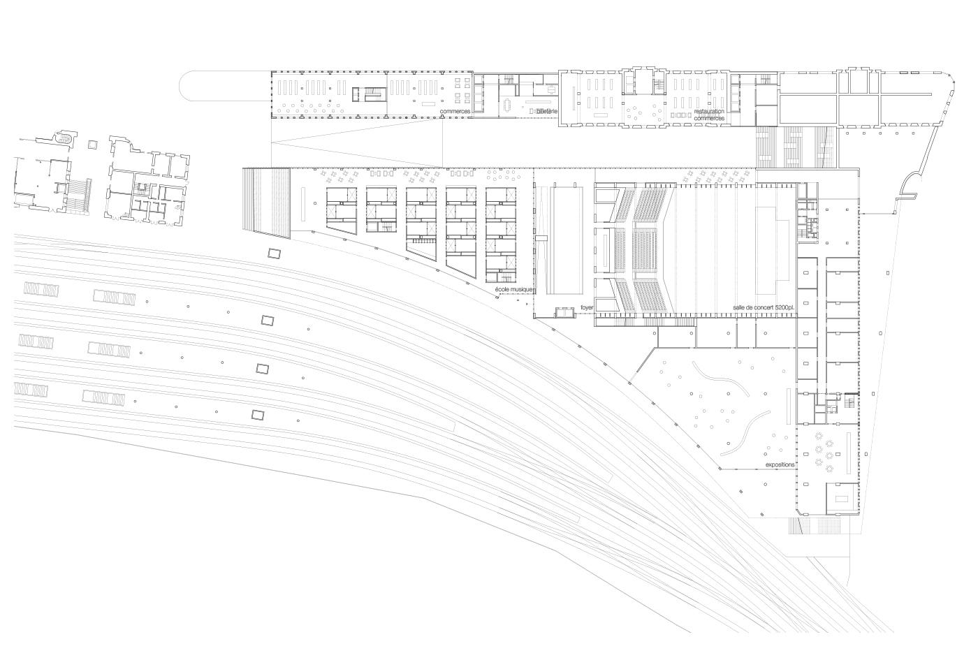 La Rasude - Pôle gare Lausanne - culture - plan
