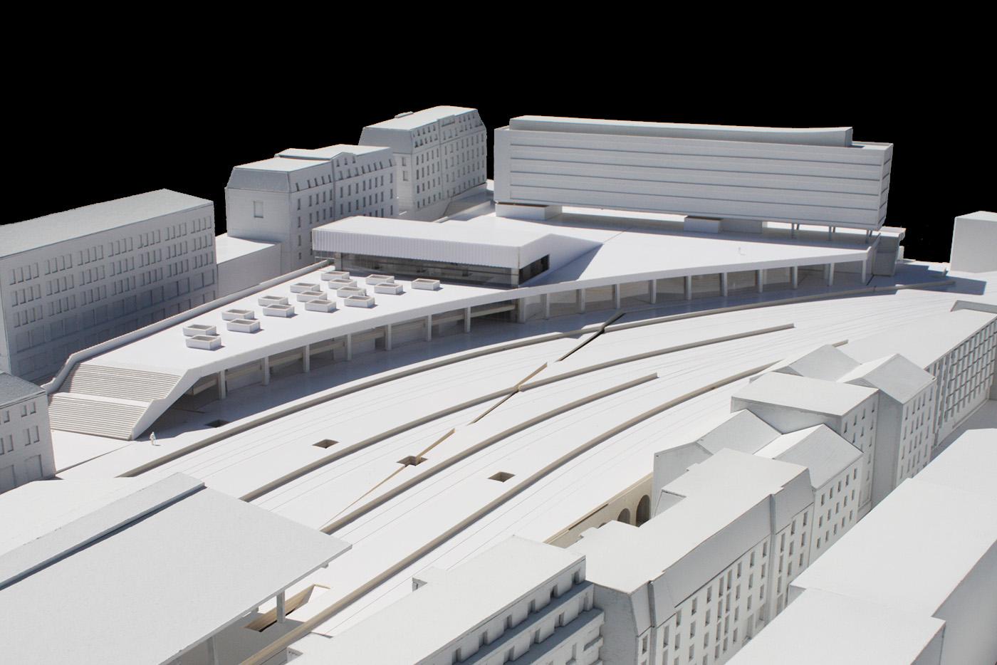 La Rasude - Pôle gare Lausanne - culture - maquette