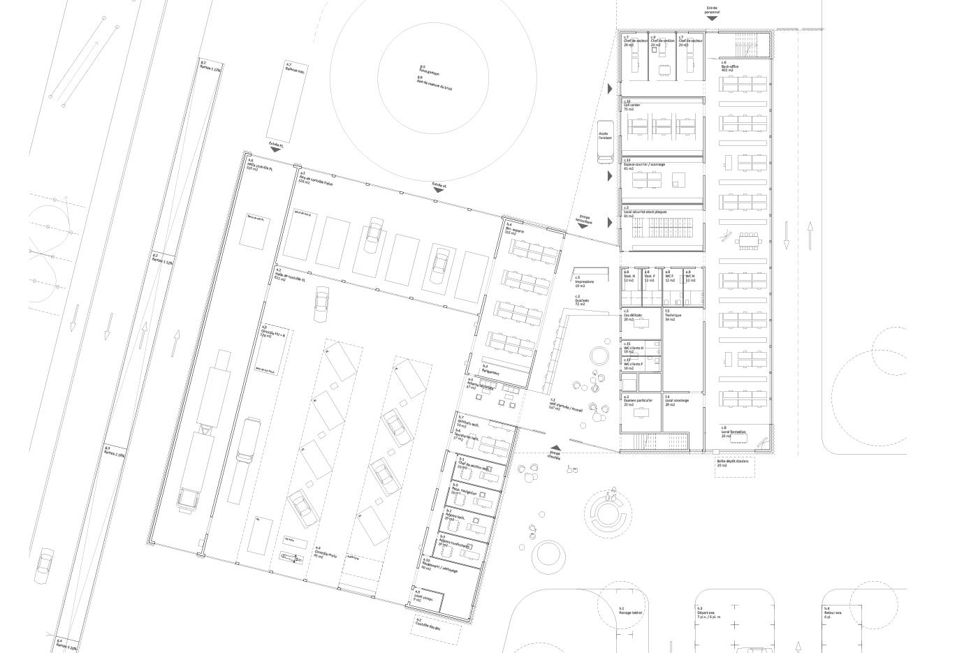 Plan du rez | Service de la circulation et de la navigation, Sion