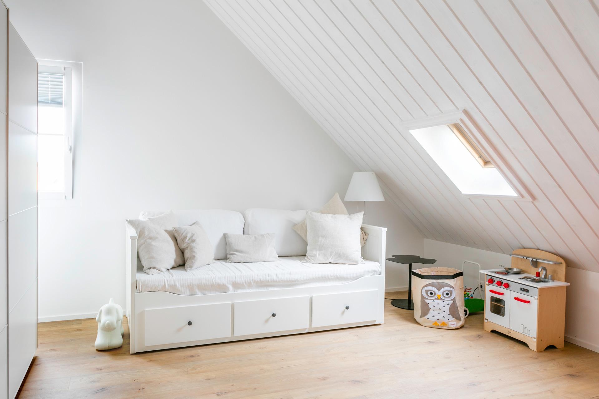 Aménagement de combles - Chambre - shape architecture Lausanne