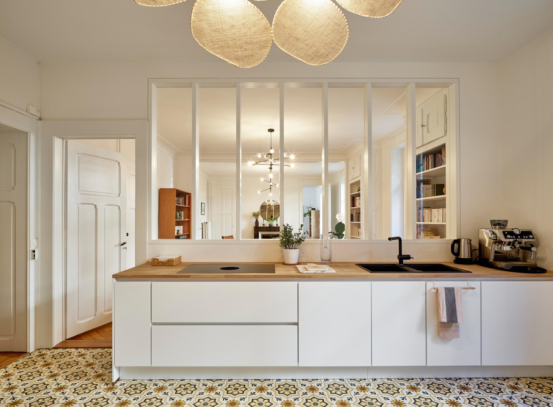 Transformations intérieures - cuisine - verrière - shape architecture - Lausanne